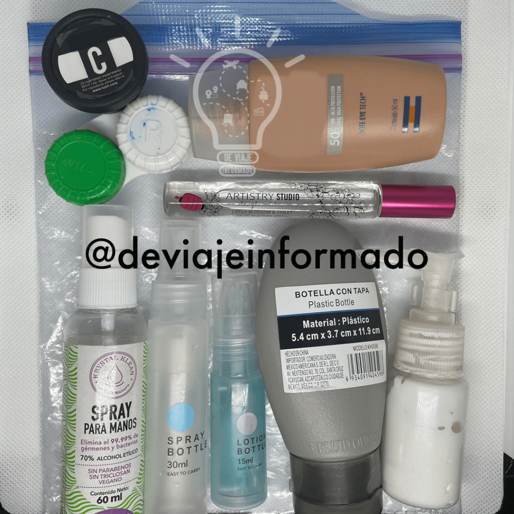 Cosmeticos en recipientes pequeNos